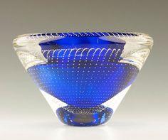 ca. 1936 Signed Andries D Copier for Leerdam Art Glass Vase