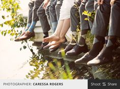 Love this fun photo of the bride with the groomsmen showing off some sweet argyle socks! #groomsmen #wedding #weddingparty #weddingdetails #shootandshare  |  Photographer: Caressa Rogers  |  caressarogers.com  |  Camera: Canon 5D Mark III  |  Lens: EF70-200mm f/2.8L IS USM  |  Aperture: f/2.8  |  Exposure: 1/1000  |  ISO: 160  | Flash: No  |  Shoot and Share
