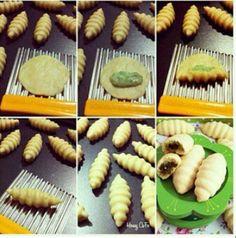 Sebze doğrayıcı ile kurabiye