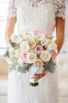 Beautiful bouquet: http://www.stylemepretty.com/2015/02/25/philadelphia-blush-pink-ballroom-wedding/ | Photography: Hudson Nichols - http://www.hudsonnicholsphotography.com/