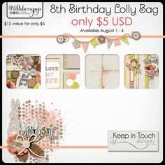 KEEP IN TOUCH DESIGNS LOLLY BAG At Pickleberrypop   Includes 4 full products for only US$5! Pickleberrypop's Lolly Bag Sale ends August 4!