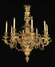 GEORGE IV EIGHT LIGHT BRASS CHANDELIER BY JOHNSTON BROOKES & CO -English, 1821