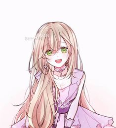 Marvelous Learn To Draw Manga Ideas. Exquisite Learn To Draw Manga Ideas. Blonde Hair Anime Girl, Anime Girl Pink, Pretty Anime Girl, Beautiful Anime Girl, Kawaii Anime Girl, Manga Girl, Anime Girls, Anime Long Hair, Chibi Anime