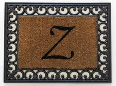 """19""""x25"""" Monogrammed Insert Doormat LETTER """"Z"""" ONLY by Momentum Mats. $16.99. Hoses clean. Reassuring, non-slip rubber that won't crack or buckle. In Stock-Ships in 1-2 days. Makes a Great Gift - Free Gift Enclosure. Resists fading, mold and mildew. Momentum Mats has been a trusted manufacturer for 29 years and takes great pride in the fact that we use only 100% natural rubber in our doormats.  Additionally, our manufacturing facilities have the most advanced an..."""