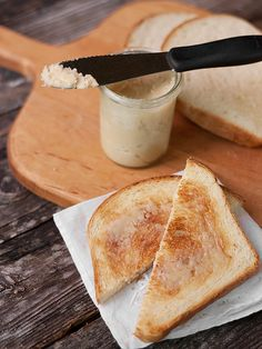 Learn how to make maple butter quickly and easily at home. Starts with real maple syrup and butter that is boiled and then mixed until light and creamy.