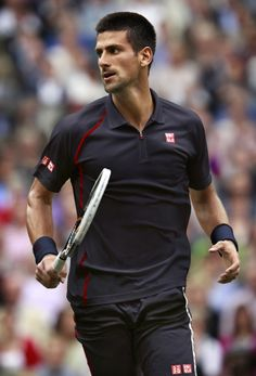 Novak Djokovic with Uniqlo, perfect combo.