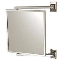 C.R. Laurence CRL Chrome 11'' x 11'' Pivot-N-View Mirror