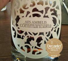 Aes Ambelis #commandaria hit at the Decanter World Wine Awards #Dwwa14 - congrats!!