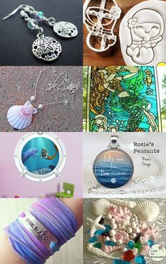 Let's Be Mermaids by Rhonda on Etsy--Pinned with TreasuryPin.com
