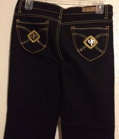 Southpole Jeans Womens 5 Black Gold Low Rise Boot Cut 31 Inseam Juniors #Southpole #BootCut