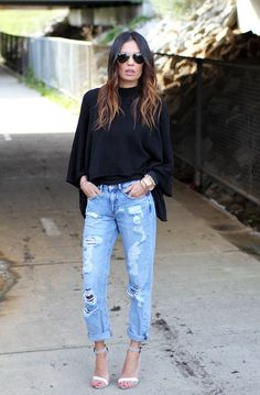 Love the rugged look with heels! (Modest, backside covered jeans fit nicely)