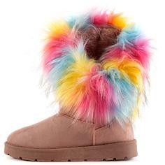 Furry Boots, Faux Fur Boots, Shoe Size Conversion, Shoe Size Chart, Vintage Pins, Neon Yellow, Winter Season, Shoe Game, Girly