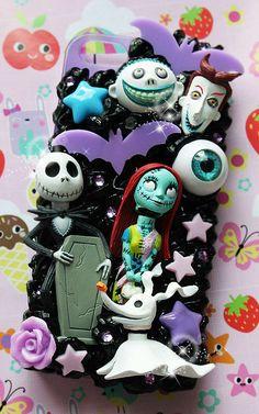 cutekawaii 'Nightmare before Xmas Jack n Sally' Whipped Cream Frosting Kawaii Decoden Phone Case - ANY PHONE MODEL - please read description by cutekawaiideco on Etsy https://www.etsy.com/listing/214423524/cutekawaii-nightmare-before-xmas-jack-n