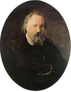 Nikolai Ge - Portrait der Autor Alexander Herzen