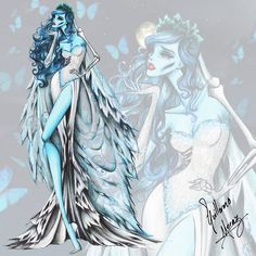 The Tim Burton Fashion Collection by Guillermo Meraz - Emily from the Corpse Bride