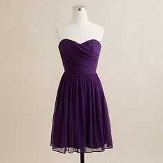 Dark eggplant. This would be beautiful for bridesmaids in a fall wedding <3