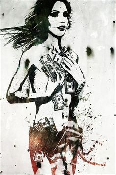 Alex Cherry Trash 1 Fine Art Print by Alex Cherry