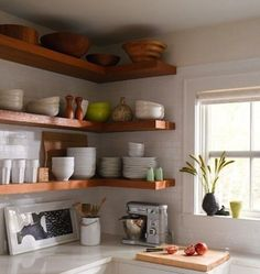 Counter space. No matter how big the kitchen, you hardly ever hear anyone complaining that there's too much of it. Especially in a compact kitchen, clear counters are a precious commodity worth fighting for. Luckily, there are lots of smart storage ideas that can help you reclaim lost counter space. Here are 14 great solutions that are just begging to be a part of your kitchen expansion.