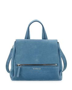 Pandora+Pure+Small+Nubuck+Satchel+Bag,+Blue+by+Givenchy+at+Neiman+Marcus.