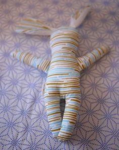 "DIY stuffed bunny tutorial - Cute idea for the ""twins"" next year."
