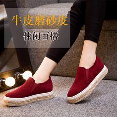 Купить товар Осенью 2015 матовая кожа туфли loafer обувь женские толстой  подошве сдобы шпагат ленивые плоские свободного покроя обувь в категории  Кроссовки ... 516182c7bdc
