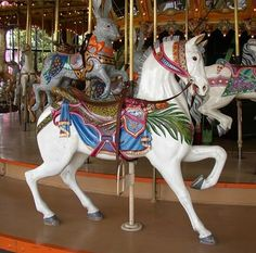 The Dentzel Carousel, Castle Amusement Park - Riverside, CA