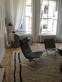 The Apartment, The Line's offline space Poul Kjærholm for Fritz Hansen, Soho, New York, Interiors | DeSmitten