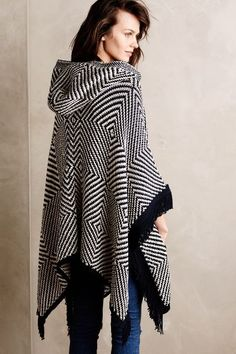 Op Art Hooded Poncho - anthropologie.com #anthrofave