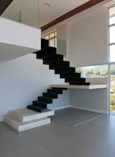 Imagem relacionada House Stairs, Stair Handrail, Staircase Railings, Staircase Design, Wooden Staircases, Floating Staircase, Spiral Staircase, Interior Stairs, Interior Architecture