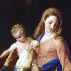 Sagrada Familia con Santa Isabel y San Juan Bautista. Por Pompeo Batoni