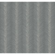 Ronald Redding Designs Stripes Resource Beaded Fountain Wallpaper, Blacks