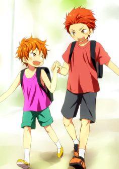Momotarou Mikoshiba, Seijuro Mikoshiba // this is so cute oml Anime Boys, Anime Siblings, Anime Child, Anime Manga, Vocaloid, Momotarou Mikoshiba, Aho Girl, Tsurezure Children, Swimming Anime