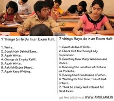7 Things Girls Do In an Exam Hall