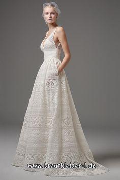 48b935a3c62 Standesamt Kleid Brautkleid Bodenlang mit V Ausschnitt im Brautkleider-Shop   XXL Auswahl ✓ Kurz
