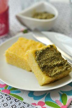 Pestós polentafalatok: gluténmentes recept,nem csak lisztérzékenyeknek Cornbread, Paleo, Ethnic Recipes, Foods, Millet Bread, Food Food, Food Items, Paleo Food