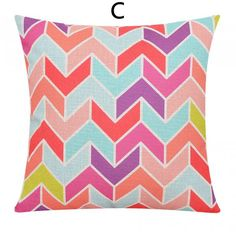 Colorful geometric decorative pillows for couch fashion linen sofa cushions
