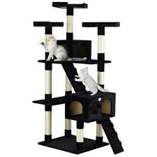Go Pet Club 72 inch Cat Tree Condo Furniture for sale online Cat Tree House, Cat Tree Condo, Cat Condo, Tree Furniture, Condo Furniture, Hidden Litter Boxes, Litter Box Enclosure, Bed With Posts, Cat Perch