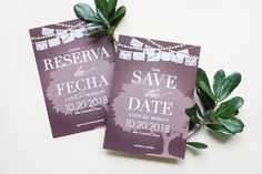 Bi-Lingual Save the Dates Mexican Wedding Invitations, Wedding Stationery Inspiration, Save The Date, Dates, Unique Jewelry, Handmade Gifts, Party, Etsy, Decor