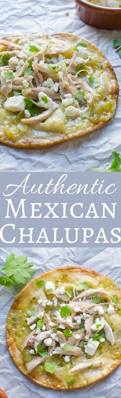 Incredible This easy recipe for Authentic Mexican Chalupas will surprise you! These chalupas are crispy & flaky with pulled pork or chicken, mild cheese & a bit of heat! The post This easy recip . Authentic Mexican Recipes, Mexican Food Recipes, Dinner Recipes, Ethnic Recipes, Mexican Easy, Mexican Appetizers, Mexican Desserts, Lunch Recipes, Drink Recipes