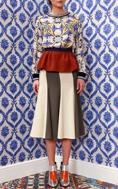 #inspiration #printmix #fashion Tata Naka Fall/Winter 2014 Trunkshow Look 14 on Moda Operandi