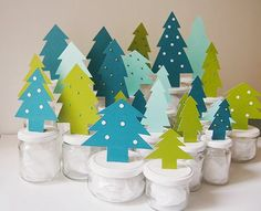 DIY advent calendar with jars, cardstock, and colored brads! Christmas Mood, Noel Christmas, Christmas Crafts, Advent Calenders, Diy Advent Calendar, Christmas Gift Decorations, Winter Crafts For Kids, Christmas Activities, Merry Xmas