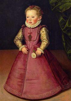 The colour - Elisabeth of Austria (1577-1586), daughter of Karl II of Austria and his wife Maria Anna of Bavaria. She was never married and had no children.