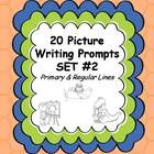20 picture writing prompts -set 2 - perfect for beginning writers to practice writing on-topic complete sentences