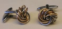 Cuff links (bronze and stainless steel)