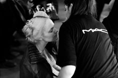 Backstage at the LUBLU Kira Plastinina SS14 fashion show.