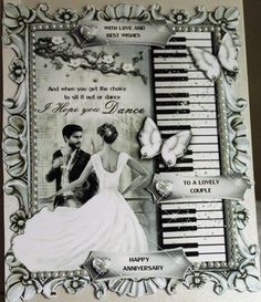 """Gallery #CUP868587_20051/937791 - Ornella says,"""" Love this print. Cut out then layered butterflies & added sentiments 'With Love and Best Wishes', Happy An..."""""""