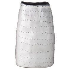 "Nate Berkus™ Earthenware Vase - White 9"""