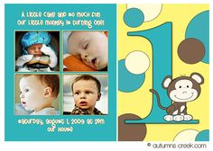 Go bananas little monkey party invitations 1st birthday or any monkey birthday invitations google search filmwisefo