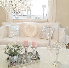Living room Chic/Soft Color Palate Gorgeous
