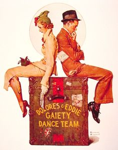 """Norman Rockwell """"Gaiety Dance Team"""" (1937)"""